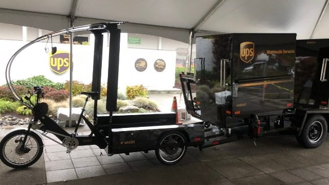 UPS launching cargo eBikes in downtown Seattle