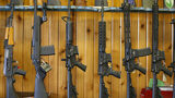 Semi-automatic AR-15's are for sale at Good Guys Guns & Range on February 15, 2018 in Orem, Utah.