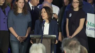 RAW VIDEO: Sen. Maria Cantwell speaks on election night (11-6-18)