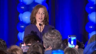 RAW VIDEO: Kim Schrier speaks after election results (and Susan Hutchison speaks) (11-6-18)