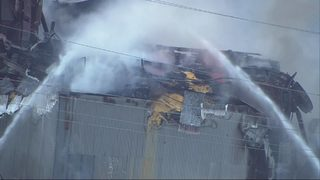 RAW: Chopper 7 over Kent feed company fire