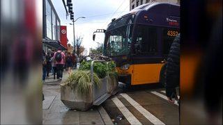 Video shows runaway bus crashing on downtown Seattle street