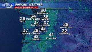 KIRO 7 Pinpoint Weather video for Mon. morning