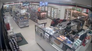 RAW: Surveillance video shows rampage at Skyway 7-Eleven