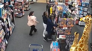 RAW: Surveillance video shows suspects allegedly stealing from Tukwila toy store