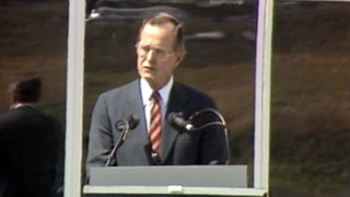 VIDEO: George H.W. Bush dedicates the Museum of Flight near Seattle