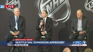 RAW VIDEO: NHL announces that Seattle will get a hockey team