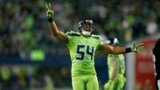 SEATTLE, WA - DECEMBER 15: Middle linebacker Bobby Wagner #54 of the Seattle Seahawks celebrates after a play against the Los Angeles Rams at CenturyLink Field on December 15, 2016 in Seattle, Washington. (Photo by Otto Greule Jr/Getty Images)