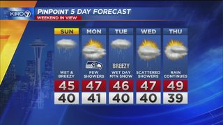 KIRO 7 PinPoint Weather video for Saturday evening