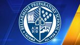 Bellarmine Preparatory School logo via wikimedia commons