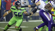 In this Dec. 10, 2018, photo, Seattle Seahawks linebacker Mychal Kendricks (56) blocks against the Minnesota Vikings during an NFL football game in Seattle. Kendricks' season came to an abrupt end Wednesday, Dec. 12, 2018, when he was placed on injured reserve after hurting his left leg during the Seahawks' win over the Vikings. (AP Photo/Ted S. Warren)