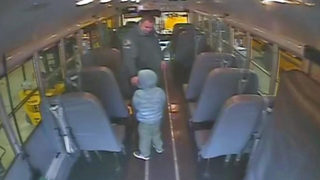 Preschooler found alone on school bus after more than an hour