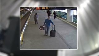 VIDEO: Suspected baggage thief caught on camera