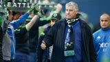 Head coach Sigi Schmid of the Seattle Sounders FC walks on to the pitch prior to the match against the New England Revolution at CenturyLink Field on March 8, 2015 in Seattle, Washington. (Photo by Otto Greule Jr/Getty Images)