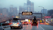 The Alaskan Way Viaduct closure is epxected to cause major traffic backups in Seattle before the replacement tunnel opens in early February. (AP Photo/Elaine Thompson)