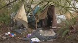 VIDEO: Homeless camp set up just feet from school in Pierce County