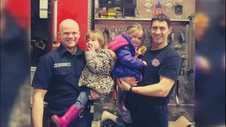 Firefighters honored for heroic rescue of twin girls