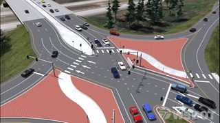 Diverging diamond construction revs up in Lacey
