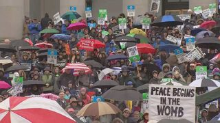Thousands of pro-life supporters rally at Capitol
