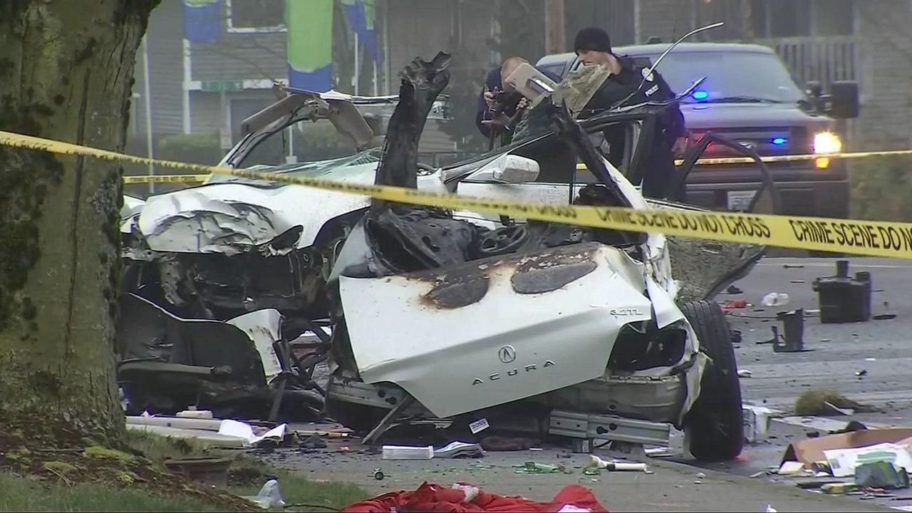 Police still seeking answers after fiery, fatal crash   KIRO-TV
