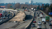 In February, a contractor for the state Department of Transportation will begin widening southbound I-5 between the Tacoma Dome and the Port of Tacoma Road to make room for new HOV lanes. (Drew Perine/The News Tribune)