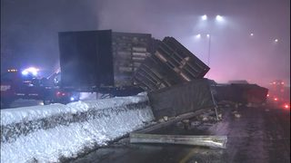 Semi carrying live chickens crashes on I-5 in Olympia