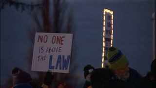 Hundreds rally at local protests against Trump