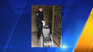 Des Moines police return stolen wheelchair to 6-year-old boy