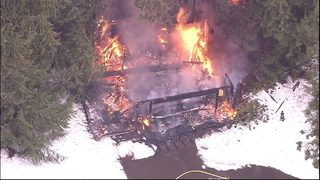 Outbuilding burns to the ground near Issaquah