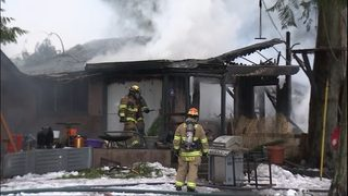 VIDEO: Outbuilding burns to the ground near Issaquah