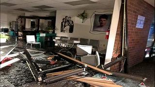 Suspected DUI driver slams into Everett salon