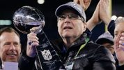 Team owner Paul Allen of the Seattle Seahawks celebrates with the Vince Lombardi trophy after defeating the Denver Broncos 43-8 in Super Bowl XLVIII at MetLife Stadium on February 2, 2014. (Photo by Kevin C. Cox/Getty Images)