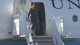 RAW: First Lady Melania Trump lands in Seattle