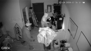 RAW: Surveillance video shows burglary at Cricket Wireless store in Puyallup