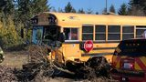 VIDEO: Crews respond to crash involving school bus in Covington