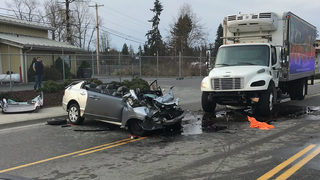 One person airlifted to Harborview after crash in Arlington