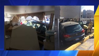 One injured after car drove into apartment in Redmond