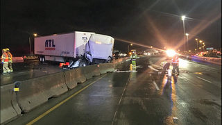 Semi crashes into barrier in same Tacoma location for 8th time in 6 months