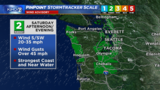 Strong winds expected Saturday afternoon and evening