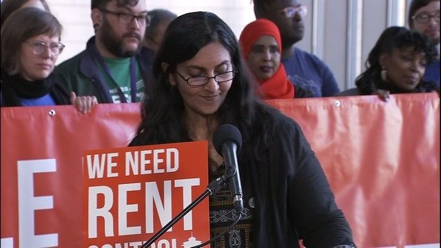 Sawant and supporters push for rent control in Seattle