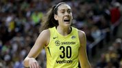 Breanna Stewart #30 of the Seattle Storm reacts against the Washington Mystics in the first quarter during game one of the WNBA Finals at KeyArena on September 7, 2018 in Seattle, Washington. (Photo by Abbie Parr/Getty Images)