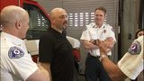 VIDEO: Bus driver meets first responders who saved his life