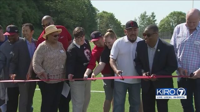 After years of delays, Cleveland STEM High School finally has home field