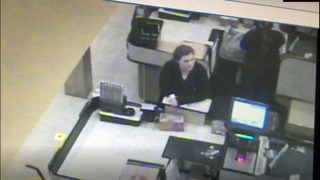 RAW: Lacey credit card theft suspect caught on camera