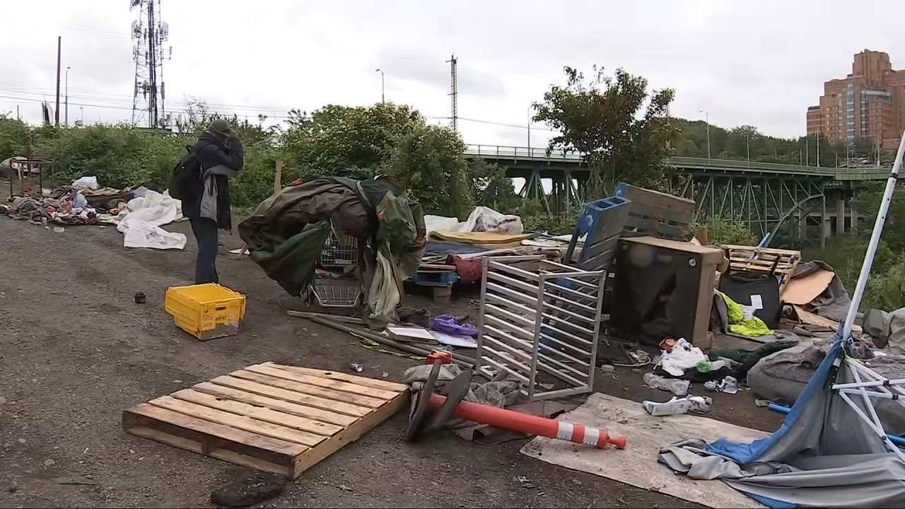 VIDEO: Officials begin clearing large homeless encampment