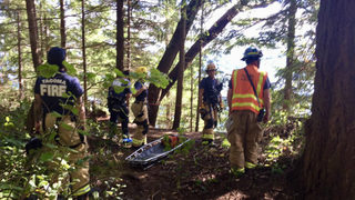 Fire crews rescue person from embankment at Point Defiance Park