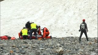 First responders conduct emergency drill at Big Four Ice Caves