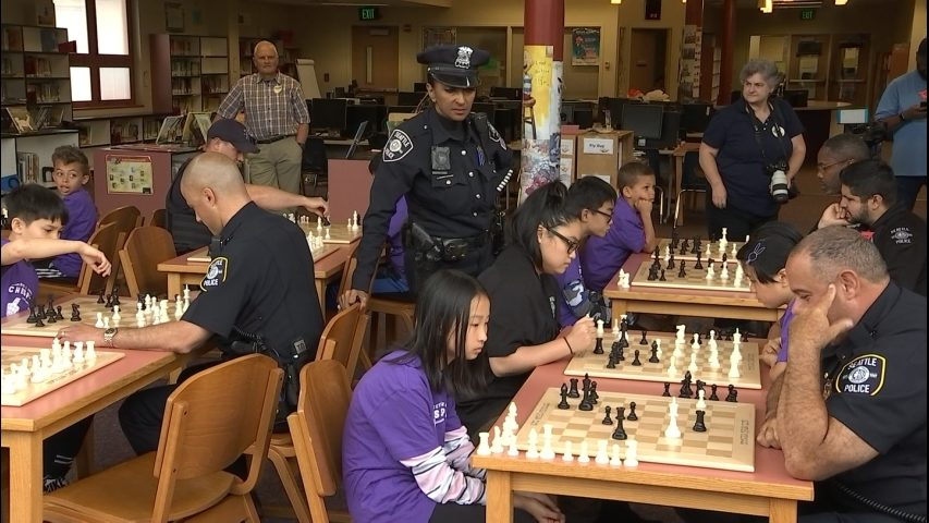 In annual Cops vs. Kids Chess Tournament in South Seattle, everyone comes out a winner