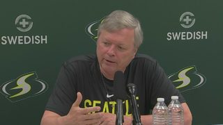 RAW: Seattle Storm head coach Dan Hughes discusses successful cancer surgery