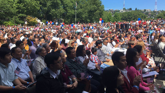 500 new citizens sworn in at Fourth of July naturalization